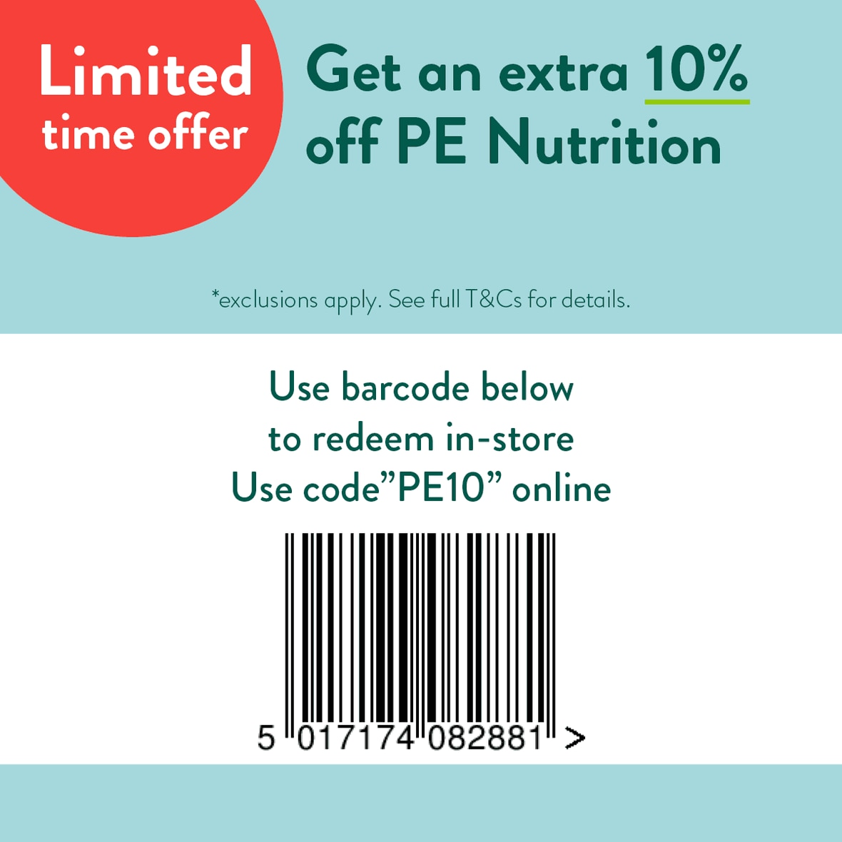 Redeem in store barcode